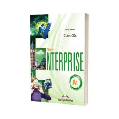 Curs limba Engleza New Enterprise A1 Audio Set 4 CD, Jenny Dooley, Express Publishing