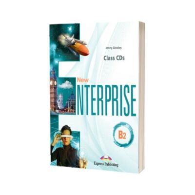 Curs limba engleza New Enterprise B2 audio set 4 CD la manual, Jenny Dooley, Express Publishing