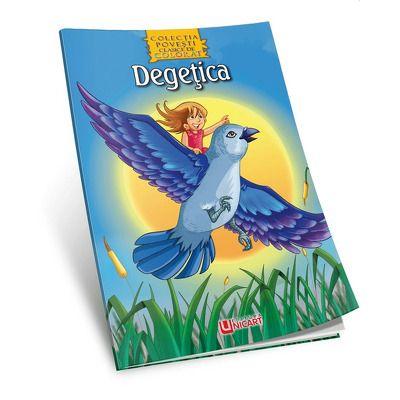 Degetica - Povesti de colorat