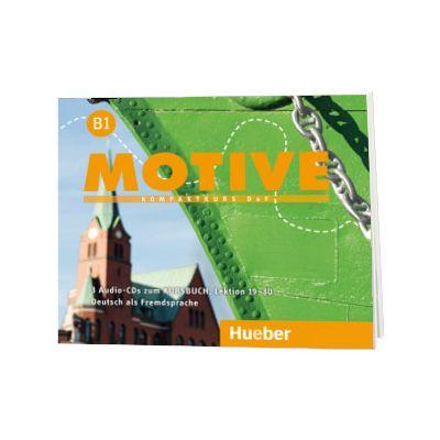 Motive B1. Audio CDs zum Kursbuch, Lektion 19-30 Kompaktkurs DaF, Wilfried Krenn, HUEBER