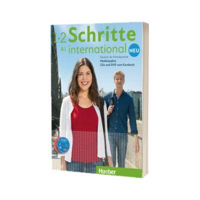 Schritte international Neu 1+2. Medienpaket 5 Audio-CDs und 1 DVD zum Kursbuch, Daniela Niebisch, HUEBER