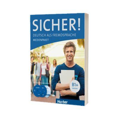 Sicher! B1+ Medienpaket 2 Audio-CDs und DVD zum Kursbuch, Susanne Schwalb, HUEBER